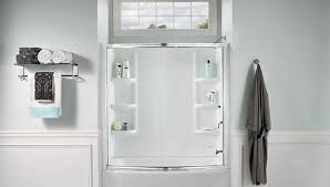 install a tub surround or shower
