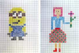 craftsboom com pixel art style painting graph paper art