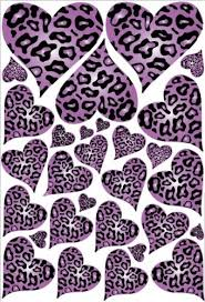 purple animal print wallpaper. Wonderful Wallpaper Purple Leopard Cheetah Print Hearts Wall Stickers Decals In Animal Wallpaper I