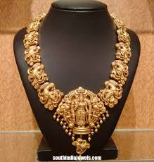 Temple Jewellery Gold Necklace Designs Latest Temple Jewellery Necklace Design 2015 Gold Temple