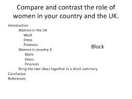 essay structure compare and contrast compare