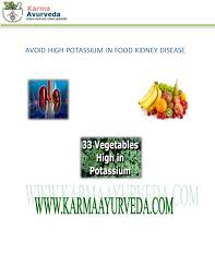Potassium In Fruits Chart Diet Chart For Kidney Patient