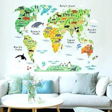 barn wall decal colorful world map wall sticker decal vinyl art kids room  office colorful world . barn wall decal kids ...