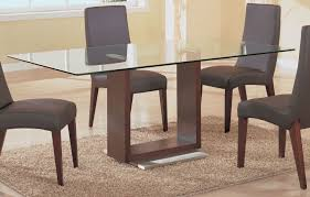 glass kitchen tables home design and decorating simple rectangle top dining with wood base armless leather dining room table toronto