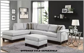 gray sectional sofa with nailhead trim luxury mason collection blue grey velvet fabric reversible sofa sectional