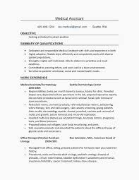 Examples Of Medical Assistant Resumes New Medical Assistant Resumes Lovely 48 Best Medical Assistants Example