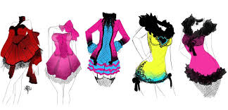 drawings fashion designs drawn fashion glamorous pencil and in color drawn fashion glamorous