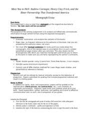 andrew carnegie study resources 2 pages standiford essay