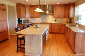 Laying Out Kitchen Cabinets Kitchen Brown Kitchen Cabinets White Hanging Lamp Black