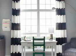 Modren Black And White Curtains Striped With Inspiration Decorating