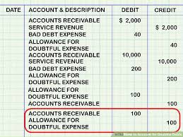 allowance for uncollectible accounts balance sheet how to account for doubtful debts 11 steps with pictures
