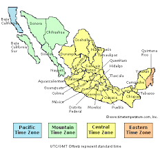 time zone map Map Of Usa And Cancun Mexico mexico time zone map map of us and cancun mexico