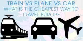 comparing train vs plane vs car travel