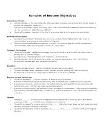 Sample Resume Objectives For Administrative Assistant Sample