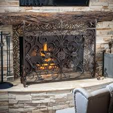 large fireplace doors custom glass fireplace doors extra tall fireplace screen custom free standing fireplace screens