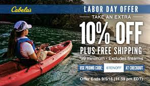 cabelas 10 off labor day special with