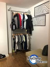 fixed wall mount clothing display rail