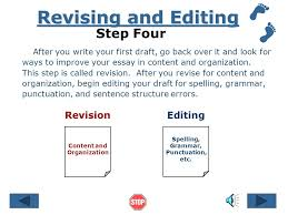 the writing process references © by ruth luman steps in  drafting step three after getting ideas and making an outline of your essay it is
