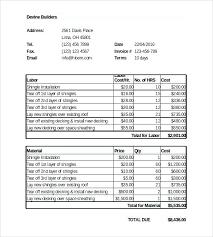 Receipt Builder Builders Invoice Template Naomijorge Co