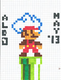 super mario on graph paper by alboyay on deviantart