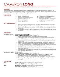 Human Resource Generalist Resume Profile Examples Hr Resume Examples