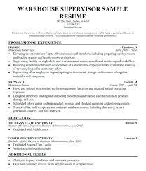 Sample Resume Of Warehouse Worker Warehouse Worker Resume Sample