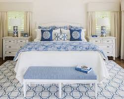 nice blue and white bedroom