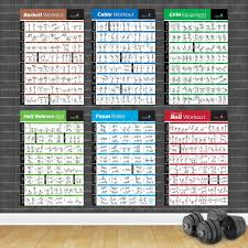 Us 2 75 50 Off Bodybuilding Gym Sport Fitness Dumbbell Poster Kettlebell Workout Exercise Training Chart Art Wall Poster Print Home Decor In