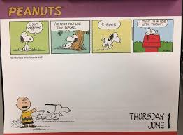 peanuts desk calendar snoopy is in love with twiggy who what is twiggy