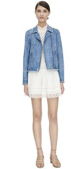 biker jackets rebecca taylor washed denim jacket