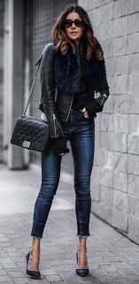 leather jacket outfits for working women