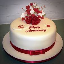 Sweets Wedding Anniversary Cake Red Wedding Anniversary Cakes