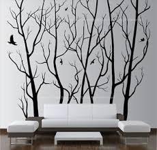 image is loading large wall art decor vinyl tree forest decal  on wall art decor with large wall art decor vinyl tree forest decal sticker choose size