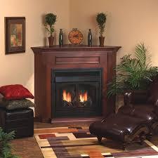 cherry standard corner mantel 32 firebox w matte black frame include