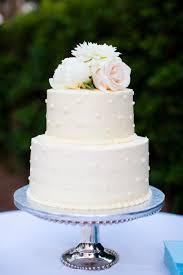 Two Tier Polka Dot Buttercream Wedding Cake Cakes In 2019
