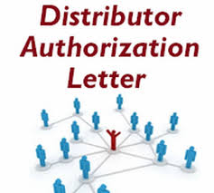 Distributor Authorization Letter - Free Letters
