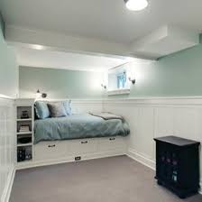 View in gallery Lovely basement bedroom design idea