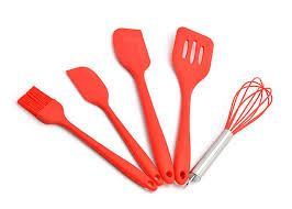 shape customized silicone kitchen utensils set 5 piece non scratch cooking sets