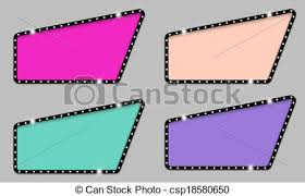 Decorative Text Boxes Irregular colored text boxes and rays clipart vector Search 24