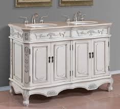 white wooden bathroom furniture. Vintage Style White Wooden Carving 60 Inch Double Sink Vanity Added Chrome Faucet As Well Wall Mount 2 Mirror Frames In Traditional Bathroom Decors Tips Furniture