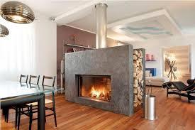 image of double sided wood burning fireplace insert