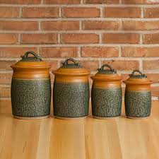 Yellow Canister Sets Kitchen Stoneware Canister Set Kitchen Storage Jars Uncommongoods
