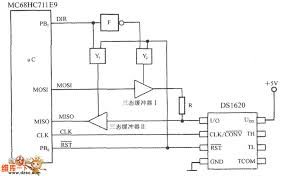 smart temperature sensor ds1620 and spi bus interface circuit by smart temperature sensor ds1620 and spi bus interface circuit by using 3 wire serial interface