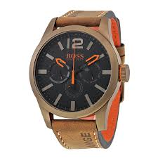 men s watches hugo boss 1513240 mens black dial analog quartz hugo boss 1513240 mens black dial analog quartz watch leather strap