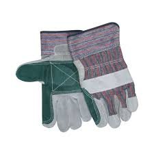 memphis 1311j double palm leather palm gloves l cow skin leather palm gray blue red black stripes cow skin leather