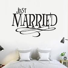 Just Married Quotes Just Married Quotes Wall Sticker New Design Pvc Waterproof Removable 37