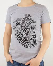 Cardiology T Shirt Designs Anatomical Heart Red Typographic Tee Shirt Xl Tee Shirts