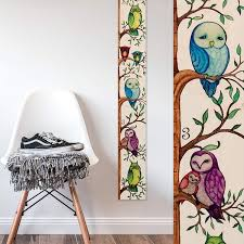 Parakeet Growth Chart Buy Owl Wooden Ruler Growth Chart Height Chart By Growth