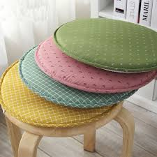 Japan Style Decorative Circular Plaid Anchor Printed Taboret Seat