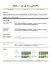 Example Of Modern Resume